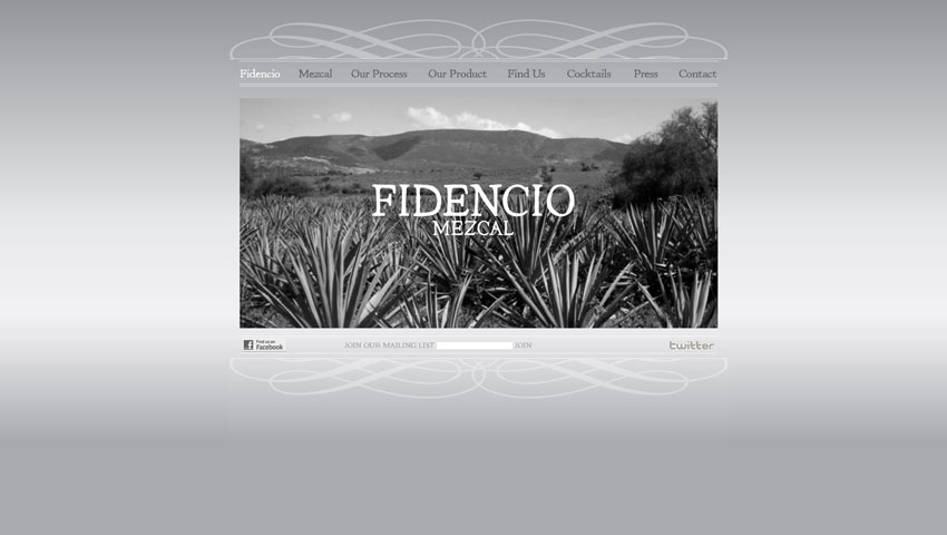 Fidencio Mezcal Home Screenshot