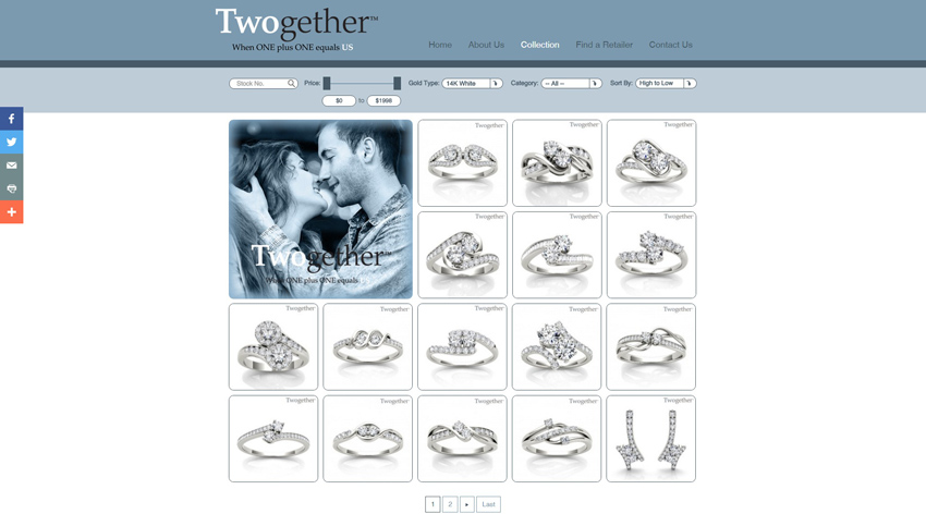 Twogether Shop Page