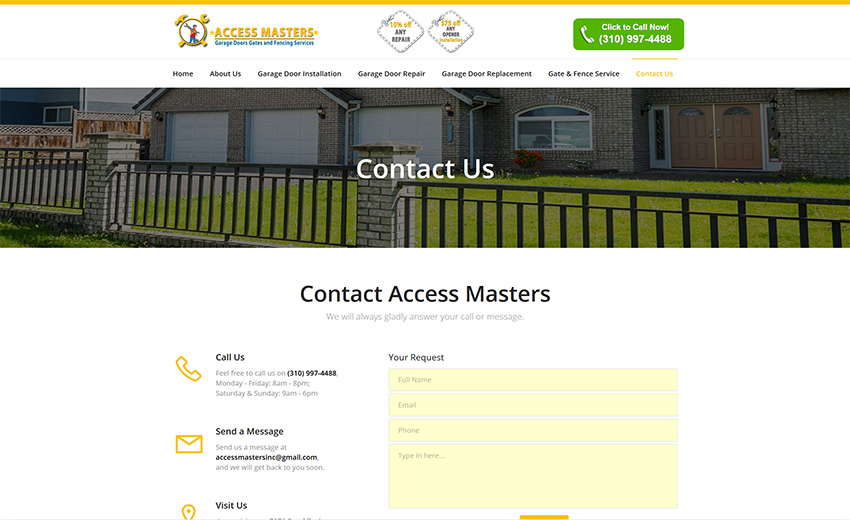 Access Masters Contact