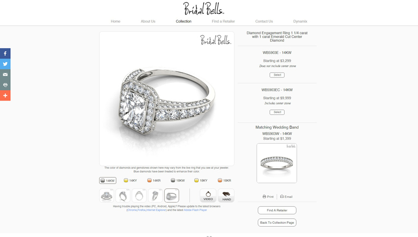 Bridal Bells Product Page