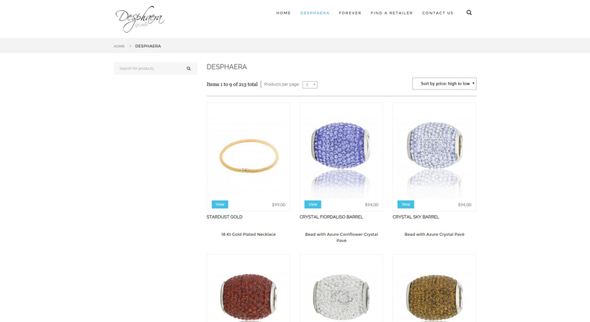 Desphaera Shop Page